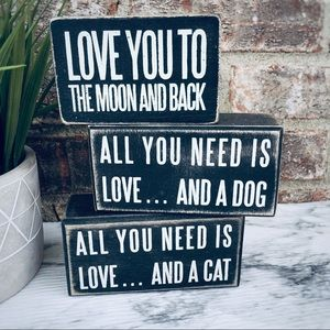 All You Need Is Love Wooden Box Signs